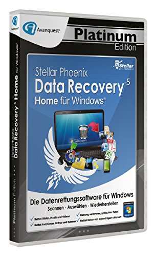 Stellar Phoenix Data Recovery 5 Win - Home - Avanquest Platinum Edition