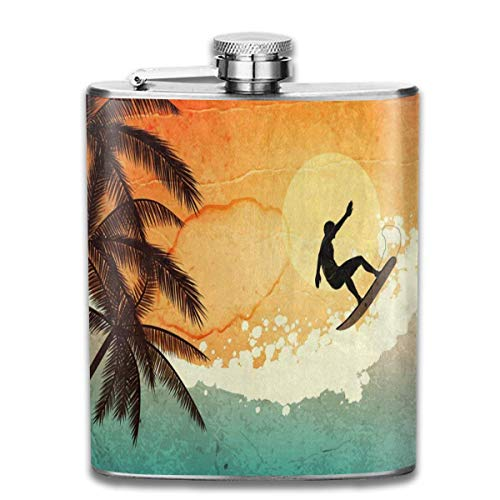 Artículos y equipo de servicio para la restauración Sdltkhy with Galaxy Portable Stainless Steel Flagon Whiskey Wine Bottle