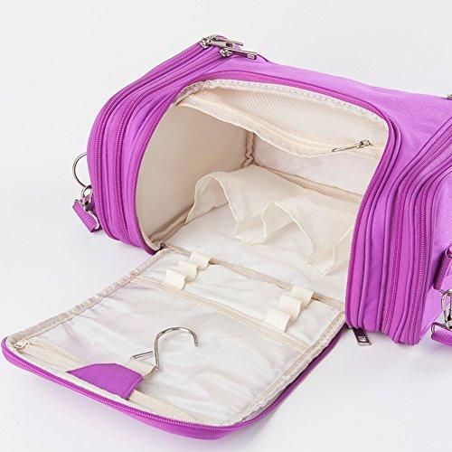 iShine Astuccio Portamatite multistrato Sacchetto cosmetico con 3 colori Viola