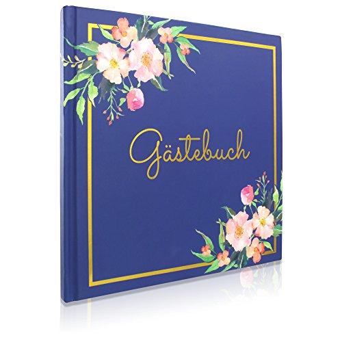 Hardcover Gästebuch | Blanko ohne Fragen