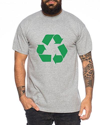 Recycling Nerd Herren T-Shirt in verschiedenen Farben Dunkelgrau Meliert