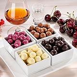 Schokoladenkugeln mit alkoholischer Füllung - Geistvolles Quartett (200g) Perfekt aufeinander abgestimmte Kombination: Kirschwasser, Cognac, Cassis und Irish Cream