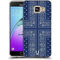 Head Case Designs Croix Bleue Bandana Cachemire Classique Étui Coque en Gel molle pour Samsung Galaxy A3 (2016)