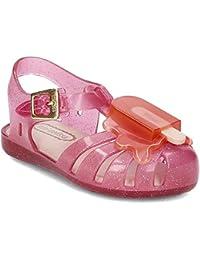 Mini Melissa - Zapato Negro realizado en plástico MELFLEX, una Goma perfumada, Biodegradable y Ecol?gica, Niña, niñas-19-20