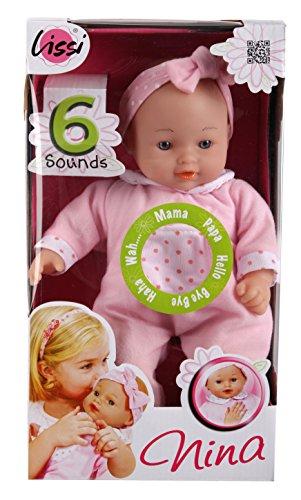 Baby-puppe Sprechende (Sprechende Baby-Puppe Nina, Farblich sortiert)