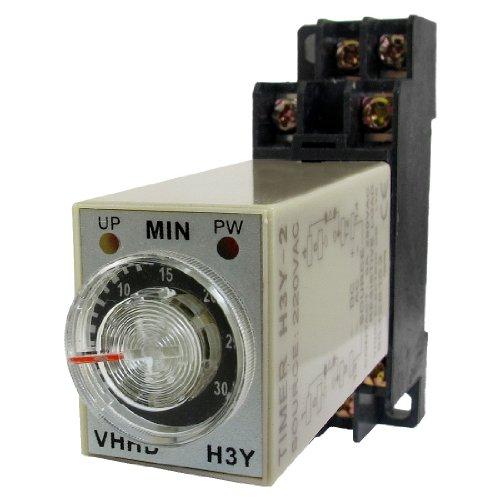 Preisvergleich Produktbild AC 220V 0–30Minuten 30m Timer Power on Delay Time Relay 8Pin h3y-2W Sockel