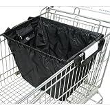 achilles®, Easy-Shopper Standard, AD101bl, Faltbare Einkaufswagentasche, schwarz, 33 x 39 x 54 cm