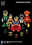 Justice League Mini Hybrid Metal 7cm figuras de acción de 5unidades)