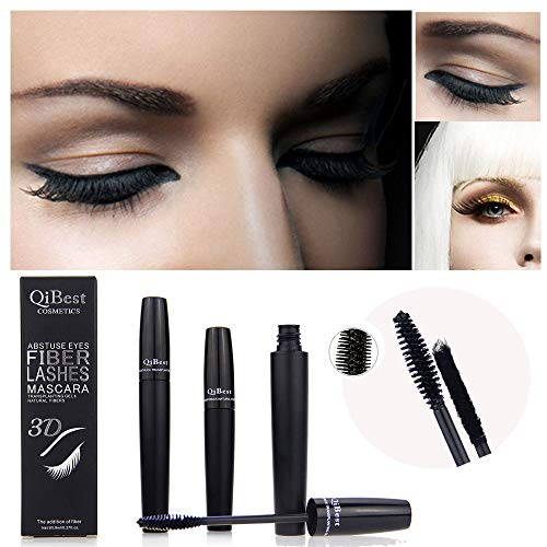 Qibest 3D Puissant Imperméable Long Curling Extension des Cils Mascara Durable (Finis Gelees)