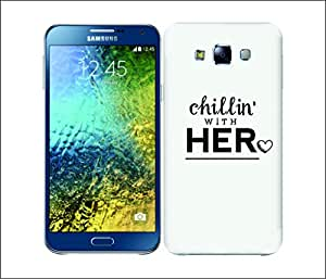 Galaxy Printed 1736 Chiling her Hard Cover for Samsung S3 NEO