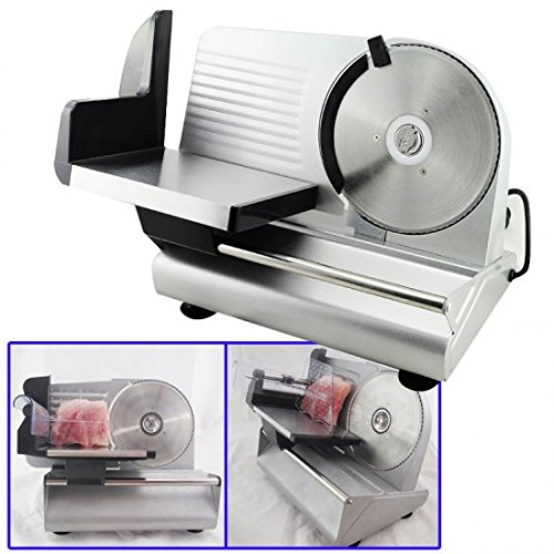 """51g738A05bL. SS500  - Denshine 7.5"""" Electric Stainless Steel Precision Food Slicer Meat Slicer Blade Machine for Commercial Restaurant Home Use"""