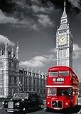 Nathan 87735 - Puzzle classico, Londra con bus rosso, 1500 pezzi