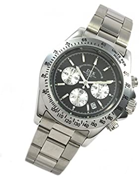 DUK Uhr Manhatten black Quarz Chrono Datum klassische Herrenarmbanduhr 5749478