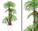 kunstpflanzen-discount.com Areca Palme, Kunstpalme mit Baststamm, mit Zementtopf, Höhe ca. 170cm - künstliche Palme Dekopalmen