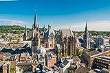 Aachen City Skyline Design XXL Wandbild Kunstdruck Foto Poster P1448 Größe 90 cm x 60 cm