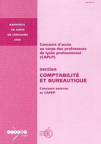 CAPLP section Comptabilité et Bureautique : Concours externe et CAFEP