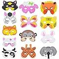 Nibesser Lots de 13 PCS Accessoires Photobooth Animaux Masques pour Décoration Fête Ceremonie Musique Anniversaire Mariage Party Soirée