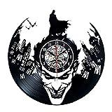 Meet Beauty Vinyl-Wanduhr mit Batman-Motiv,, tolles Geschenk für Männer und Freund