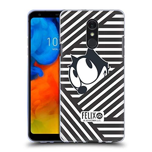 Head Case Designs Offizielle Felix The Cat Streifen Ikonische Kunst Soft Gel Huelle kompatibel mit LG Q Stylus/Q Stylo 4 Str Stylus
