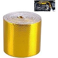 CARGOOL Enveloppe de barrière thermique doublée d'un ruban adhésif de protection contre la chaleur avec ruban adhésif réfléchissant la chaleur
