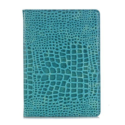 TechCode Hülle für iPad Pro 9.7,Luxus Krokodil Haut Muster PU Leder Bookstyle Folio Case Cover Stand mit Auto aufwachen/Schlaf Funktion Smart Case Geldbörse Ledertasche Hülle Case Schutzhülle - Luxus-leder-stand