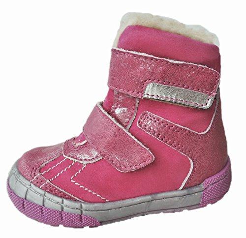 Ennellemoo ® -lUXUSSERIE **pJ -sportive- enfant fille-bottes-en-boots bottines en cuir pleine fleur avec chaud kunstfelll lammfellimitat-/automne/hiver chaussures Rose - Pink/Fuchsia