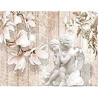 Fototapeten Vintage Blumen 352 X 250 Cm   Vlies Wand Tapete Wohnzimmer  Schlafzimmer Büro Flur Dekoration