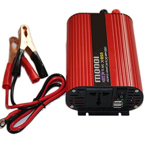 1000 Watt DC 24 V zu AC 220 V USB Portable Wechselrichter Ladegerät Universal Spannungswandler Zucker Power 2000 Watt