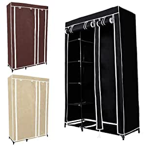 miadomodo mobiler schrank kleiderschrank faltschrank stoffschrank mit rei verschluss und ablage. Black Bedroom Furniture Sets. Home Design Ideas