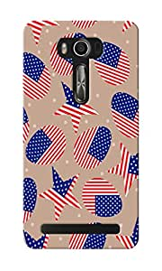 KnapCase American Abstract Designer 3D Printed Case Cover For Asus Zenfone 2 Laser ZE550KL