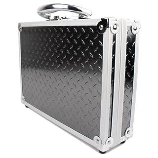 Stabiler Aluminium Koffer mit Schaumstoffeinlage für die HTKJ Original 4K Dual Display Mini Ultra HD 1080P WiFi und die Action 4K Kamera Aoleca WiFi 2,0 Zoll Full HD 170° - von DuraGadget