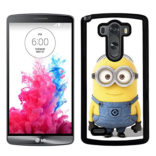 Funda carcasa para LG G3 dibujo minion borde negro