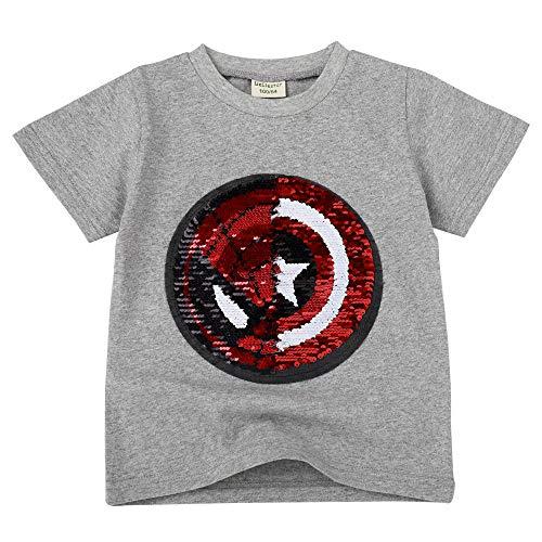 Niño niña Camiseta Lentejuelas Camiseta