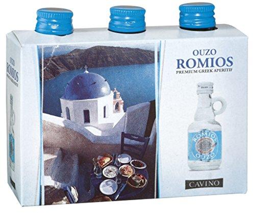 Ouzo Romios 38% 0,04l 3er-Set