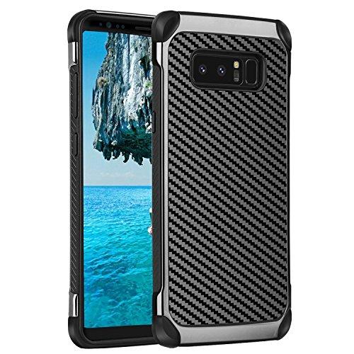 Samsung Galaxy Note 8 Hülle,TekG Handyhülle 2 in 1 Soft TPU Cover mit Hartplastik Stoßfänger Fallschutz Doppelte Schutzschicht für Galaxy Note 8 Case Cover kompatibel mit kabellosen Laden