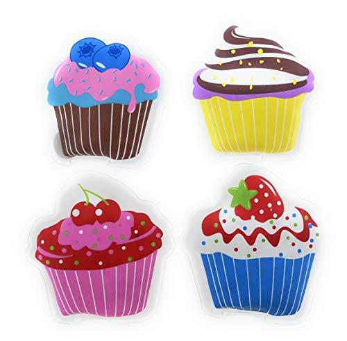 MC-Trend® 4er Set Taschenwärmer Handwärmer Cupcakes für warme Finger im Herbst und Winter, wiederverwendbar