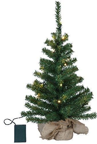 Bezaubernder LED - Weihnachtsbaum / Tannenbaum im BEUTEL - Beleuchtung mit 20 warm weissen LED-Lichtern - Natürlich schön - zum individuellen Dekorieren - Höhe ca. 60 cm - mit 20er Lichterkette bereits enthalten - NEU für Sie entdeckt im KAMACA-SHOP