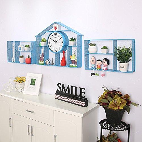 ... YYL Einfache Regale Wohnzimmer Ideen Sehen,Schlafzimmer  Wanddekoration,Silent Clock A 20zoll