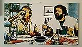 Bud Spencer und Terence Hill–Bild moderne handbemalt–Pop Art Effect (Format 70x 40cm)