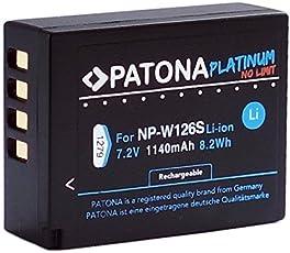 Patona Platinum Akku für Fujifilm NP-W126 NP-W126s (echte 1140mAh) zu Fujifilm FinePix HS50EXR HS30EXR HS33EX X100F X-A1 X-A2 X-A3 X-A5 X-A10 X-E1 X-E2 X-E3 X-ES2 X-H1 X-M1 X-Pro1 X-Pro2 X-T1 X-T2 X-T10 X-T20 X-T100