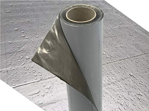 Demmelhuber Dachfolie KSK Aluminium selbstklebend grau 5 m² für Flachdachhäuser, Gartenhaus Dach, Metalldachbahn für Gartenhäuser