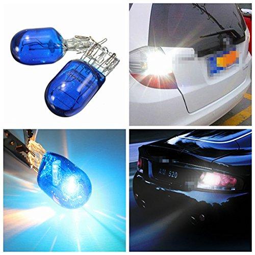 MASUNN Bleu W21 5W T20 580 7443 xénon Blanc halogène Feux de lumière côté Lampe HID Ampoule