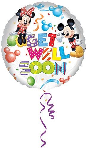 Amscan Mickey und Minnie Get Well Standard HX Folie Ballons (Minnie Standard Kostüme)