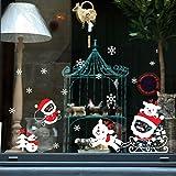Tuopuda Natale Muro Adesivi Home Decor Natale Babbo Natale Finestra Vetro Decorativo Parete Decalcomania (elk)