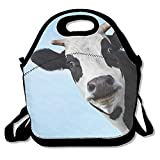 Best Kids Lunches On The Planets - Pp7g Cow Face Lunch Tote Insulated Reusable Picnic Review