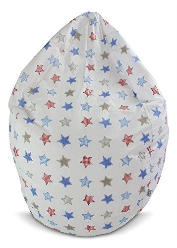 Joyfill Sitzsack mit Bezug, Stuhl für Kinder und Erwachsene, Weicher Stoff, 240L groß - 5026 Rustik Stars