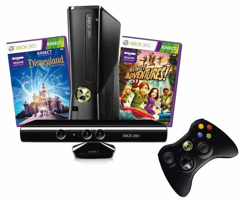 Xbox 360 4 GB Kinect + Kinect Disneyland Adventures Bundle