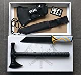 Profi Outdoor Set-Tomahawk Hammer Hawk Axt Beil M48 +Tanto Messer +Survival-Card