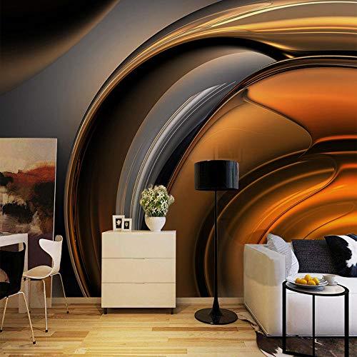 3D Wandbild Tapete Moderne Metallic Glossy Coffee Line Abstrakte Kunst Große Wandmalerei Schlafzimmer Wohnzimmer Sofa Tv Foto Tapete 350x256 cm -