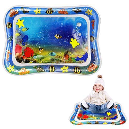 Wasser Spielmatte für Babys und Kinder, ToMoYi Wasserbefülltes Baby-Spielzeug Findet Nemo Wassermatte Aufblasbare Bauchzeit Aufblasbare Tastmatte Spielzeug Bauchlage Pad 66x50CM für Babys -